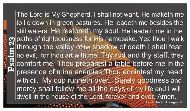 Psalm 23 Basketball Ministry Wallet Size Seed Card