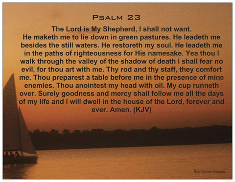 Psalm 23 - Prayer Card