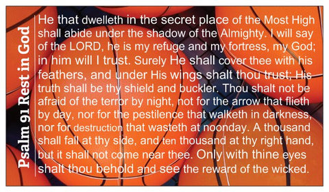 Psalm 91 Basketball Wallet Size Seed Card
