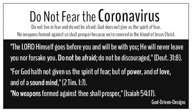 Do Not Fear Coronavirus Seed Card - Black