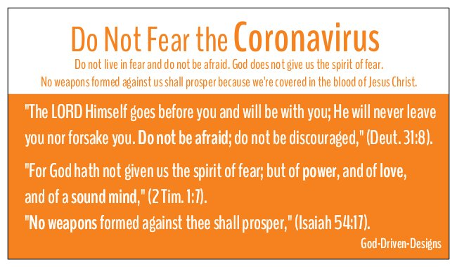 Do Not Fear Coronavirus Seed Card - Orange