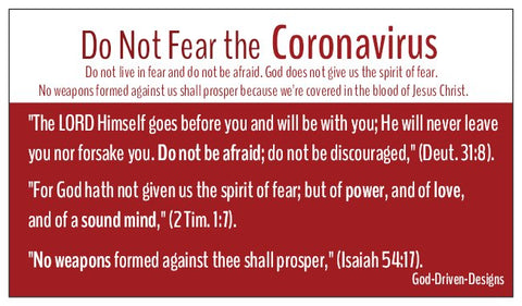 Do Not Fear Coronavirus Seed Card - Red