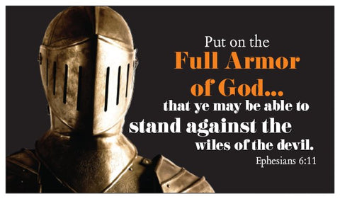 Armor of God Seed Card - Warrior Knight with Ephesians 6:11-17