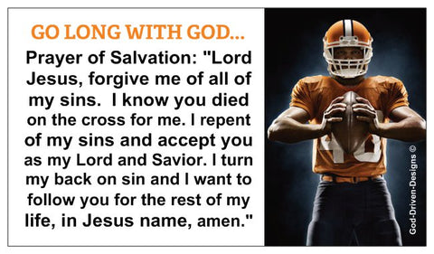 Go Long with God Football Player Cards