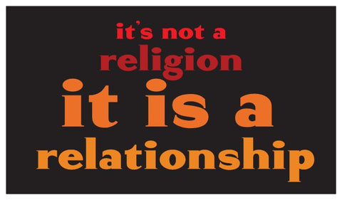 Not Religion, but Relationship Daily Inspiration Seed Card - Red