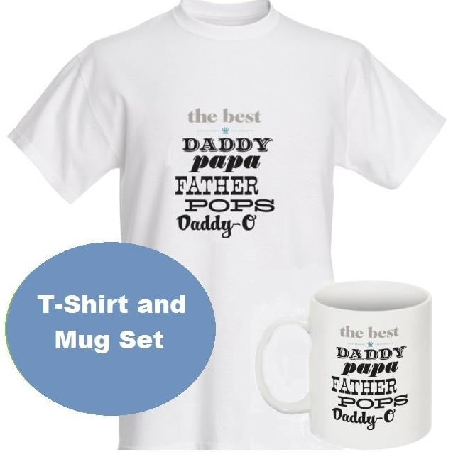 Top Fav: T-Shirt and Mug Father's Day Gift Set The Best Dad