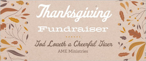 Thanksgiving Church Fundraiser Banner 2.5' x 6'