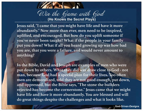 Encouraging Men Prayer Card - Football