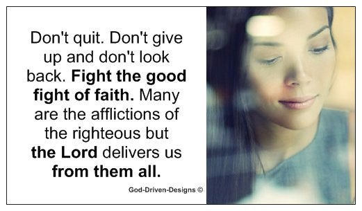 Women's Ministry: Don't Quit. Don't Give Up Church Card