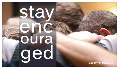 Stay Encouraged Men's Event Place Card - Men's Prayer Group