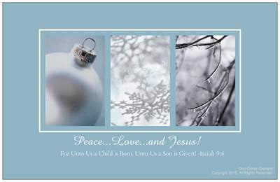 $1 All I Want For Christmas, Peace...Love...and Jesus Holiday Card