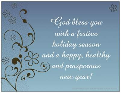 God Bless You Christmas Holiday Cheer Note Cards 5/Pack Set