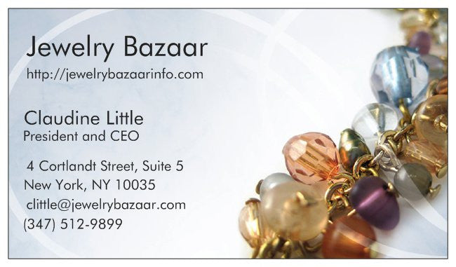 Order Business Cards - Jewelry