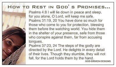 Rest in the Promises of God Prayer of Salvation Seed Card - Large Font