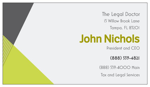 Order Business Cards - Angles