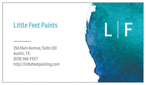 Order Business Cards - Paint Theme