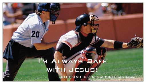 You're Always Safe with Jesus Baseball Magnet 25/Pack