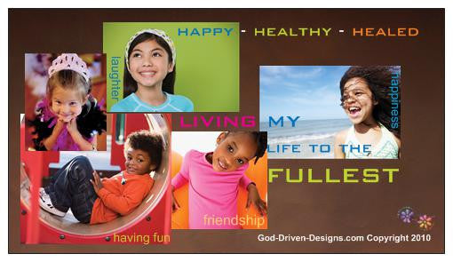 Happy, Healthy Healed Kids Magnet 25/Pack