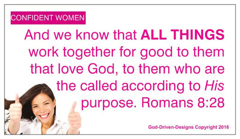 All Things Confident Women Romans 8:28 Magnet 25/Pack