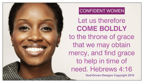 Come Boldly to the Throne Confident Women Magnet 25/Pack