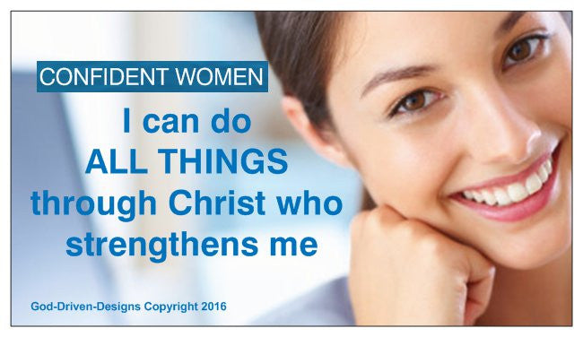 All Things Through Christ Philippians 4:13 Magnet 25/Pack