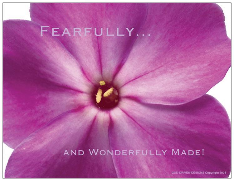 God Driven Designs Fearfully Wonderfully Made Letterhead Stationery Package Gift Idea Image