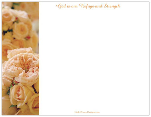 Letterhead Gift Set: God is Our Refuge and Strength