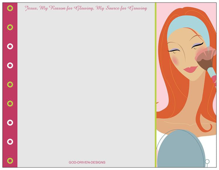 God Driven Designs Inspirational Jesus Letterhead Stationery Girl's Card Image