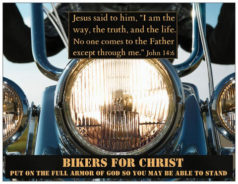 Biker's Prayer Card Put On the Full Armor of God - Warriors Prayer