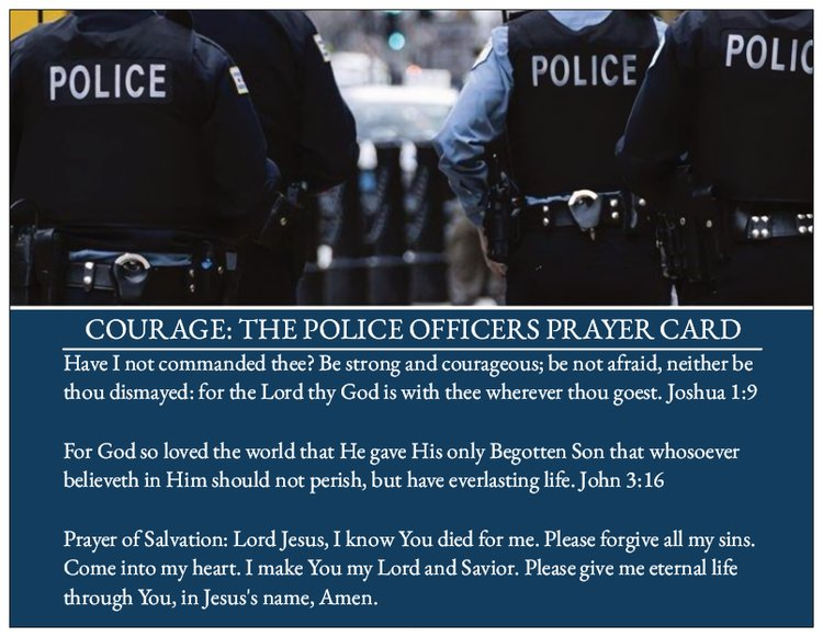 Courage: The Police Officers Prayer Card