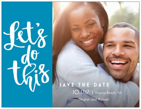 "Save the Date Custom Horizontal Flat 5.5"" x 4"" Invitations (Sample Shown)"