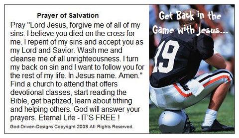 Prayer of Salvation Football Seed Card - Small Font