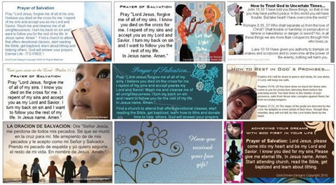Assorted Prayer of Salvation Seed Cards - Outreach Ministry