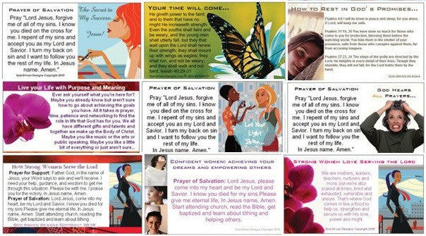 Assorted Prayer of Salvation Seed Cards - Women's Theme