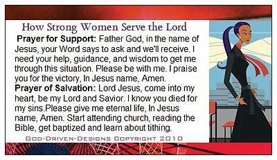 How Strong Women Serve the Lord Seed Card