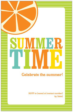"Summertime Barbecue Custom Vertical Flat 5"" x 7"" Invitations (Sample Shown)"