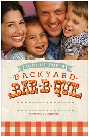 "Summer Barbecue Party Custom Vertical Flat 5"" x 7"" Invitations (Sample Shown)"