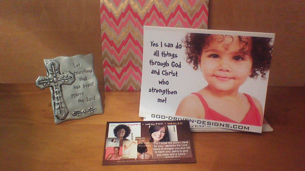 Jesus Said Yes I Can Do All Things Gift Set: Magnet, Plaque Cards, and Bag