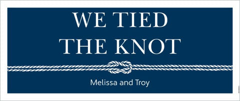 Wedding Celebration Custom 2.5' x 6' Banner (Sample Shown)