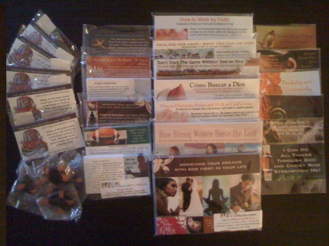 Outreach Ministry Gift Package - Assorted with Prayer Cards, Seed Cards, Magnets