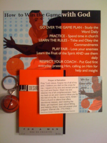 Men's Basketball Gift Set Dunhill Cologne, Key Chain and Prayer Seed Cards