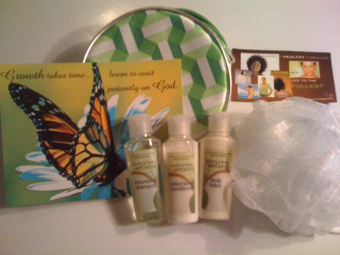 Butterfly Gift Set with Clinique Make up Bag, Bath Body Samples, Magnet and M