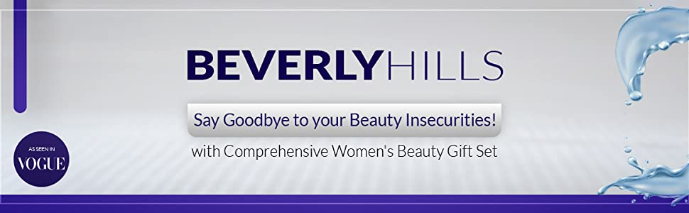 Beverly hills. Say goodbye to your beauty insecurities with comprehensive women's beauty gift set. As seen on vogue