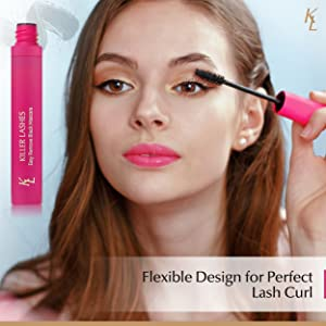 Flexible design for perfect lash curl