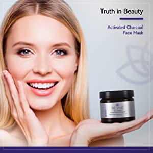 Truth in beauty, activated charcoal face mask