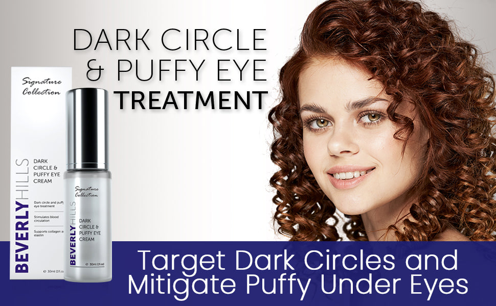Dark circle and puffy eye treatment. Target dark circles and mitigate puffy under eyes.