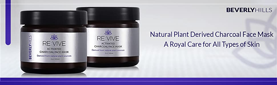 Beverly Hills. Natural plant derived charcoal facemask. A royal care for all types of skin.