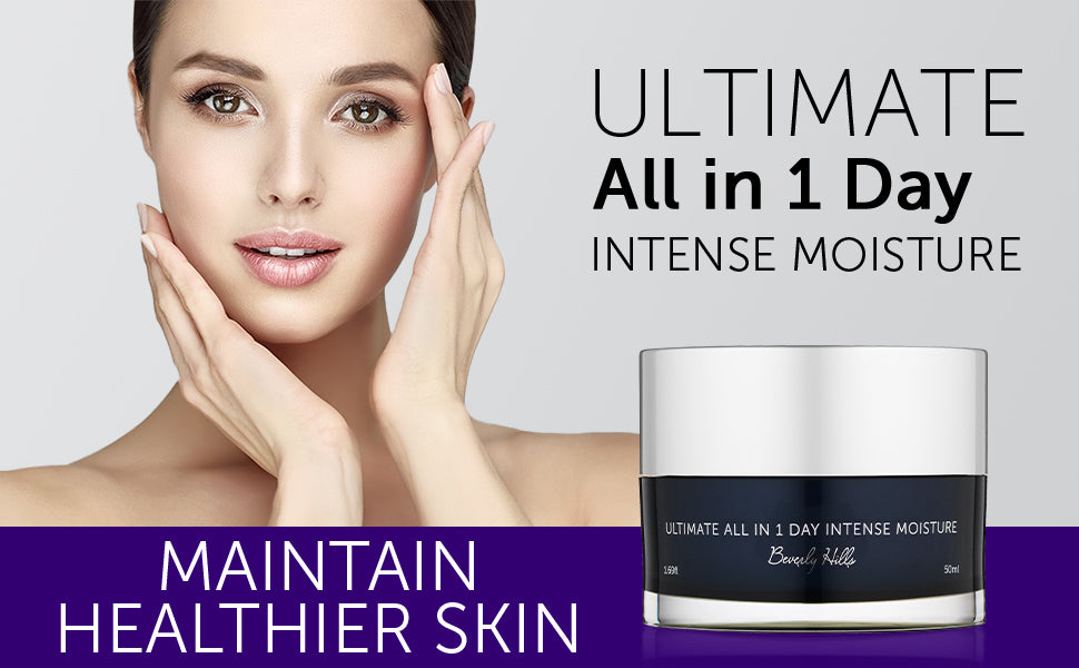 Ultimate all in 1 day intense moisture. Maintain healthier skin