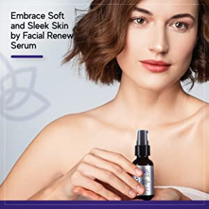 embrace soft and sleek skin by facial renew serum