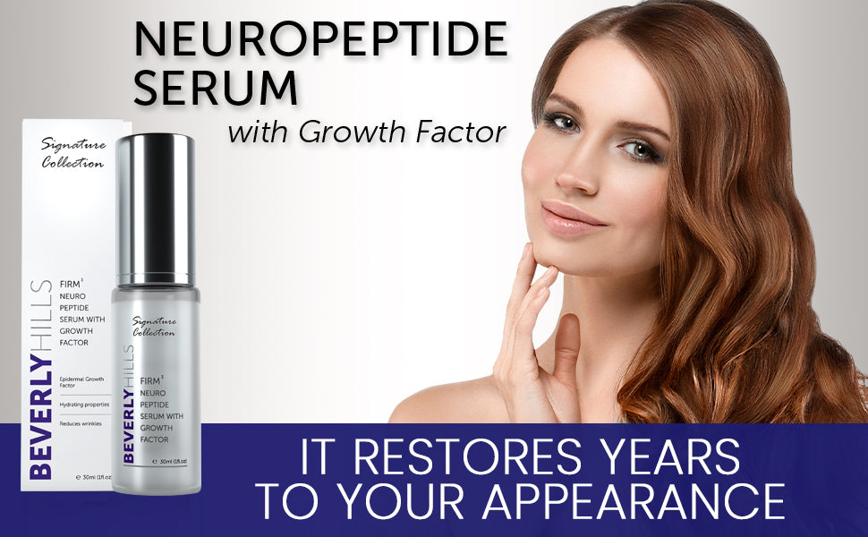 neuropeptide serum with growth factor. It restores years to your appearance.